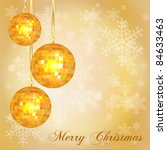 christmas card template with... | Shutterstock .eps vector #84633463
