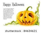 pumpkin for halloween on white... | Shutterstock .eps vector #84634621
