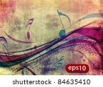abstract music notes design for ...