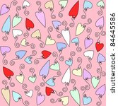 background hearts colored in... | Shutterstock .eps vector #84645586