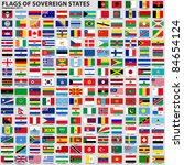 vector set of flags of world... | Shutterstock .eps vector #84654124
