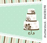 template greeting card  vector... | Shutterstock .eps vector #84658198