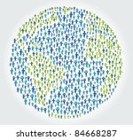 earth globe with people | Shutterstock .eps vector #84668287