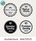 premium quality labels  with... | Shutterstock .eps vector #84670525