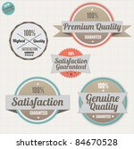 premium quality labels and... | Shutterstock .eps vector #84670528