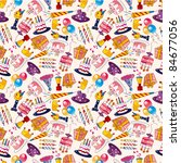 seamless birthday pattern   Shutterstock .eps vector #84677056
