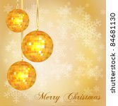 christmas card template with... | Shutterstock . vector #84681130
