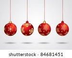 vector christmas ball | Shutterstock .eps vector #84681451
