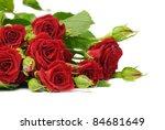 Stock photo roses isolated on white 84681649