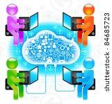 communication in the global... | Shutterstock .eps vector #84685723