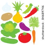 vegetables | Shutterstock .eps vector #84689746