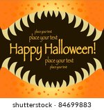kids halloween jaw card - stock vector
