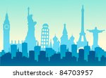 cities of the world | Shutterstock .eps vector #84703957
