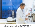 senior male researcher carrying ... | Shutterstock . vector #84717322