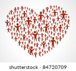 group of red people forming a... | Shutterstock .eps vector #84720709