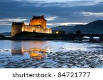 eilean donan castle at twilight ...