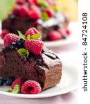 beautiful chocolate cake with... | Shutterstock . vector #84724108