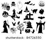 halloween elements | Shutterstock .eps vector #84726550