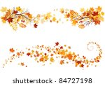 autumn leaves border | Shutterstock .eps vector #84727198