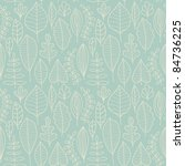 seamless pattern with leaf... | Shutterstock .eps vector #84736225