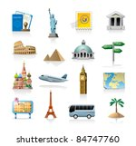 travel icon set | Shutterstock .eps vector #84747760