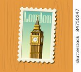 big ben stamp | Shutterstock .eps vector #84750247