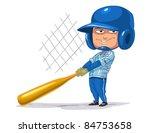boy baseball player | Shutterstock .eps vector #84753658