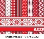 christmas digital scrapbooking... | Shutterstock .eps vector #84759622