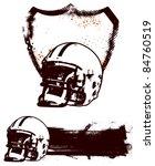 american football grunge shield ... | Shutterstock .eps vector #84760519