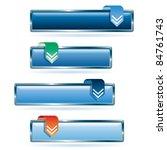 vector blue download buttons   Shutterstock .eps vector #84761743