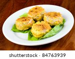 Dim Sum corn cake - stock photo