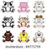 funny pet animals | Shutterstock .eps vector #84771754