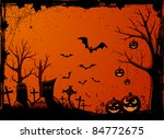 grunge halloween night... | Shutterstock .eps vector #84772675