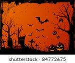 grunge halloween night... | Shutterstock .eps vector #84772675