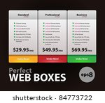 perfect web boxes hosting plans ... | Shutterstock .eps vector #84773722