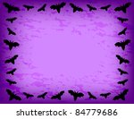 bat frame   bat silhouette on... | Shutterstock . vector #84779686