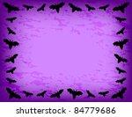 bat frame   bat silhouette on... | Shutterstock . vector #84779686