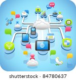 tablet pc cloud computing... | Shutterstock .eps vector #84780637