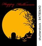halloween illustration | Shutterstock .eps vector #84780640