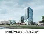 3d business building | Shutterstock . vector #84787609