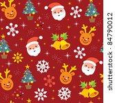 christmas pattern reindeer santa | Shutterstock .eps vector #84790012