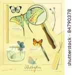 entomological vector set ... | Shutterstock .eps vector #84790378
