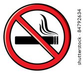 no smoking sign | Shutterstock .eps vector #84792634