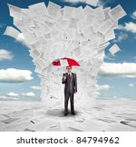 serious businessman with red... | Shutterstock . vector #84794962