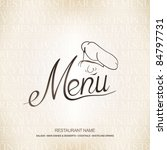 vector. restaurant menu design | Shutterstock .eps vector #84797731