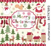 christmas background | Shutterstock .eps vector #84797893