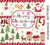 christmas background | Shutterstock .eps vector #84797893