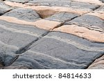 Precambrian Rock / Canadian Shield broken by neotonic stresses - stock photo