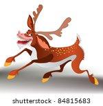 funny deer   Shutterstock .eps vector #84815683