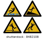 caution signs figures falling... | Shutterstock .eps vector #8482108